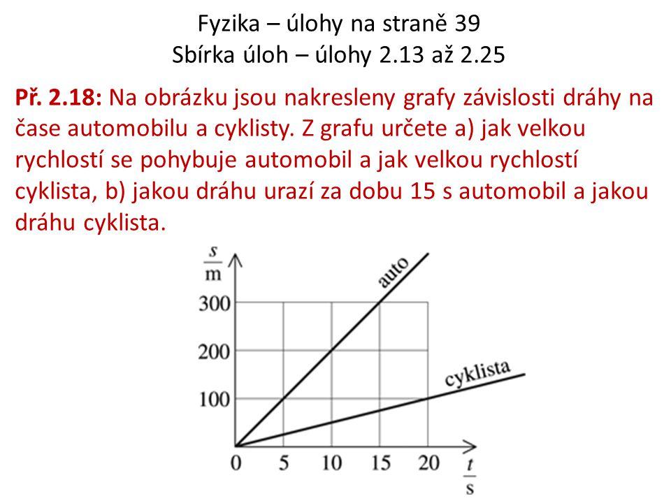 Fyzika – úlohy na straně 39