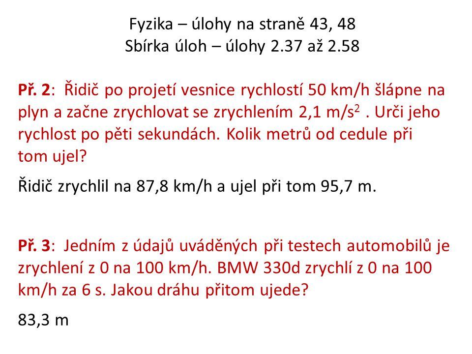 Fyzika – úlohy na straně 43, 48