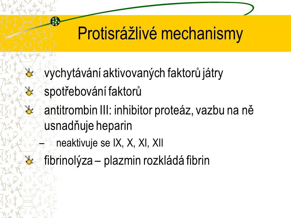 Protisrážlivé mechanismy