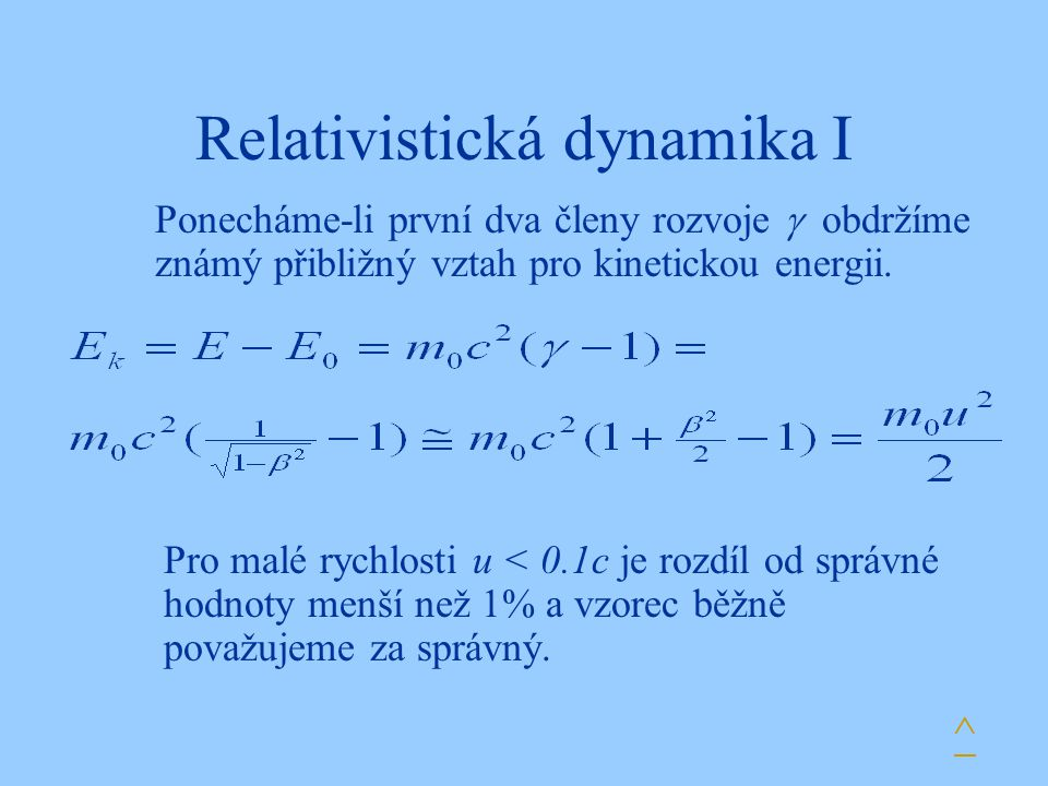 Relativistická dynamika I