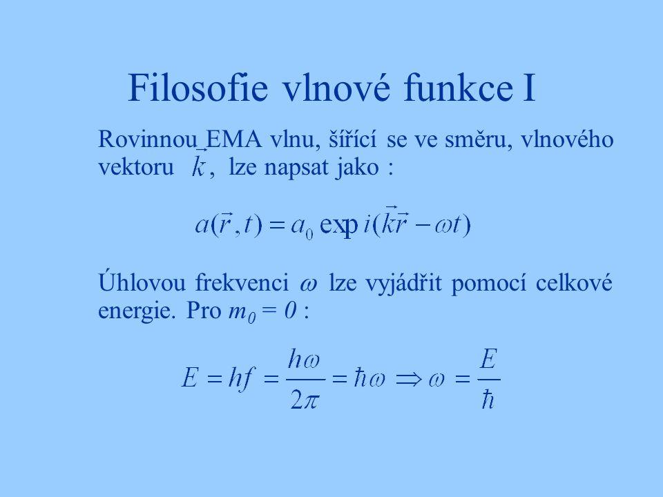 Filosofie vlnové funkce I