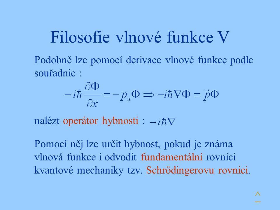 Filosofie vlnové funkce V