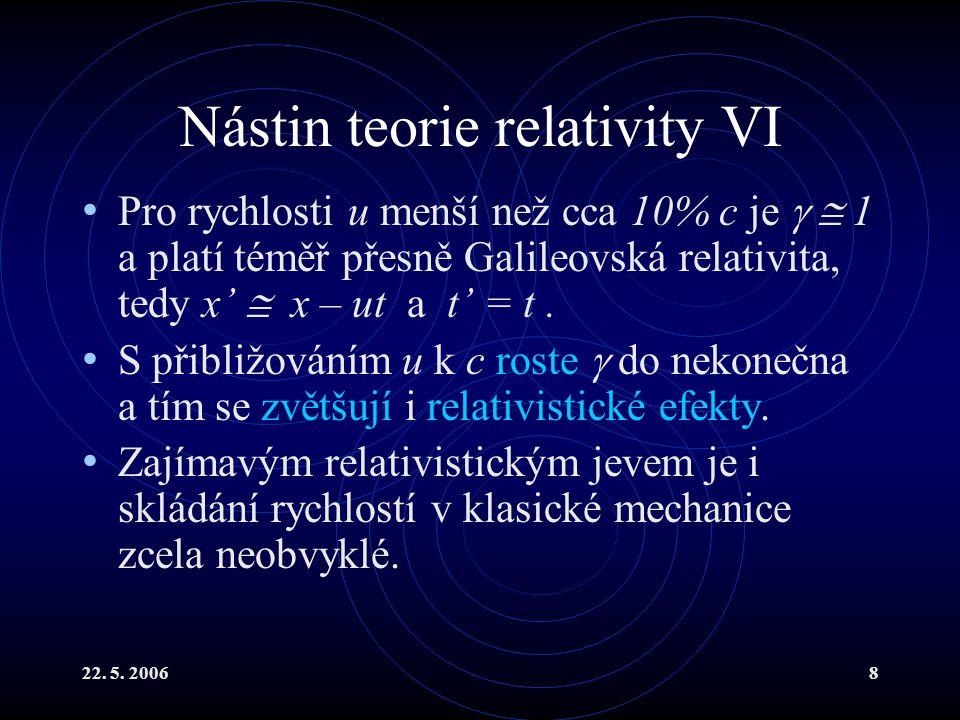 Nástin teorie relativity VI