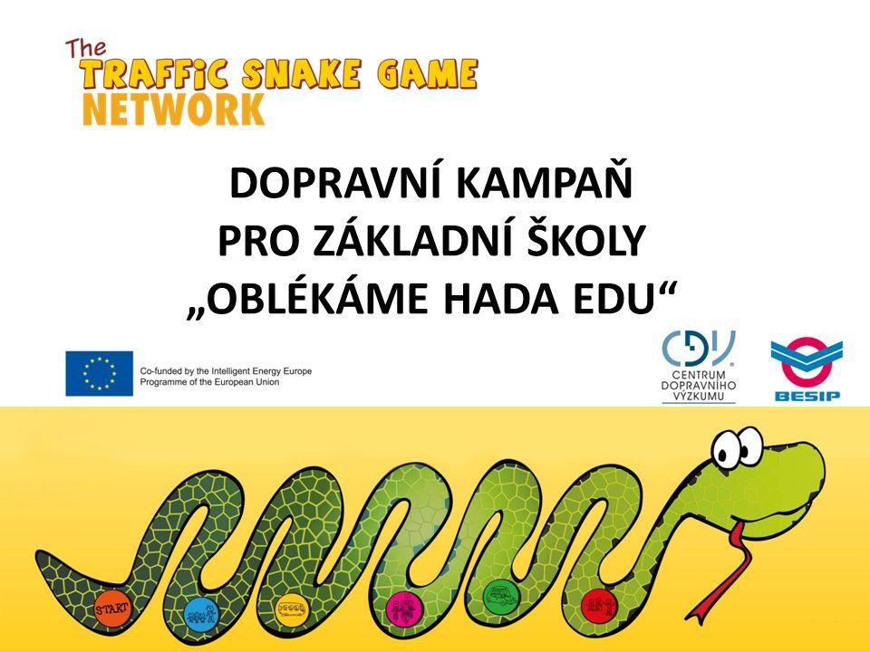 """Dopravní kampaň pro základní školy """"Oblékáme hada edu"""