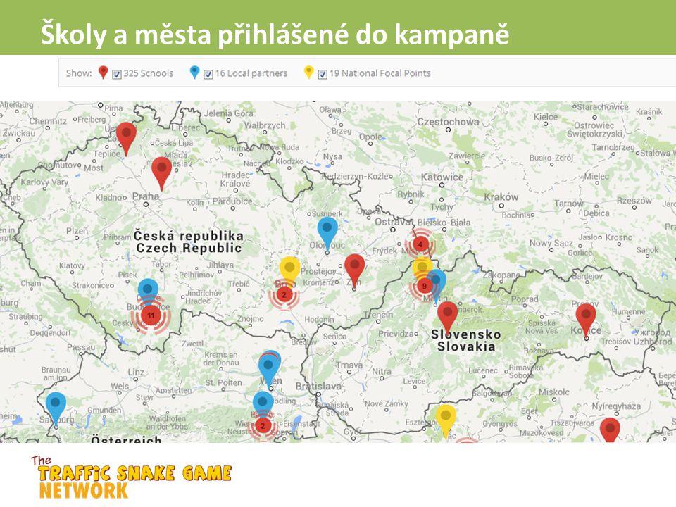 Školy a města přihlášené do kampaně