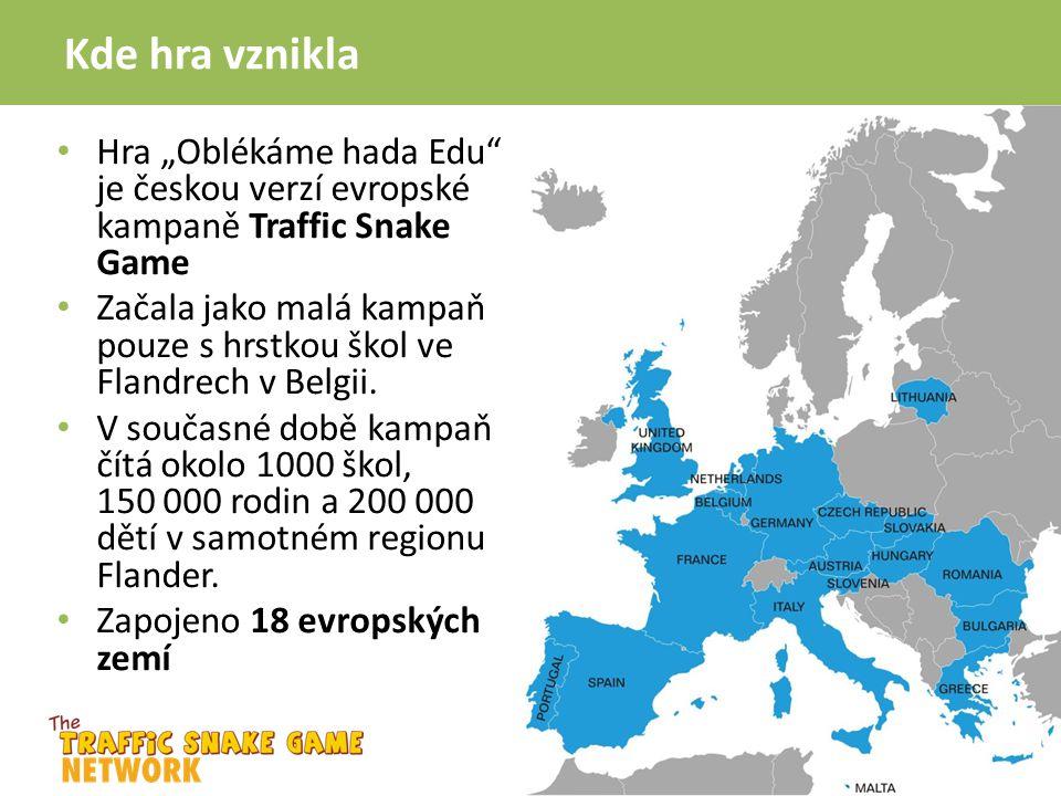 """Kde hra vznikla Hra """"Oblékáme hada Edu je českou verzí evropské kampaně Traffic Snake Game."""