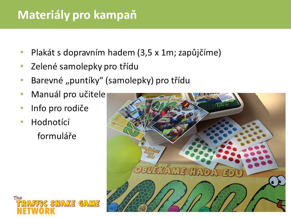 Materiály pro kampaň Plakát s dopravním hadem (3,5 x 1m; zapůjčíme)