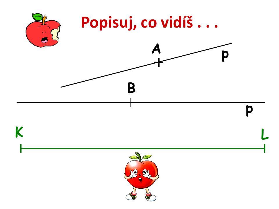 Popisuj, co vidíš . . . A p + B p K L