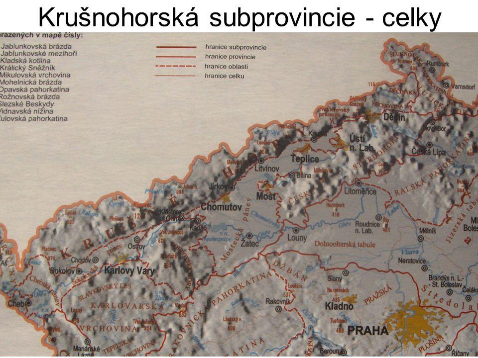 Krušnohorská subprovincie - celky