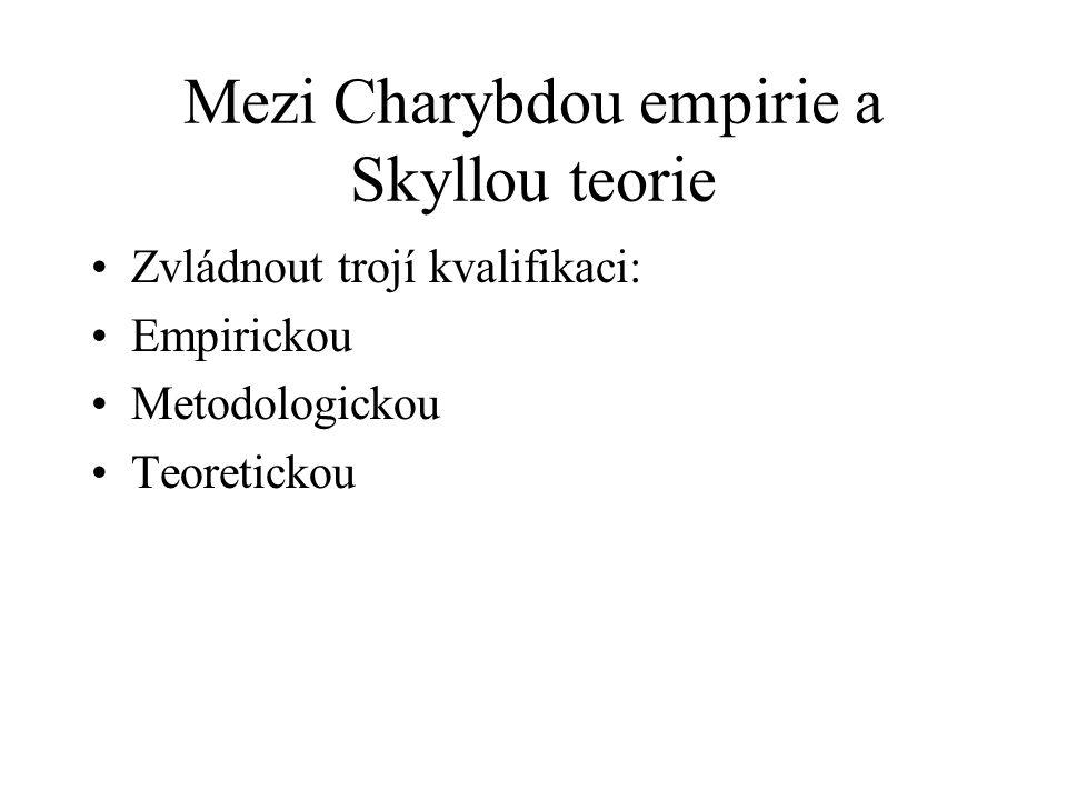 Mezi Charybdou empirie a Skyllou teorie