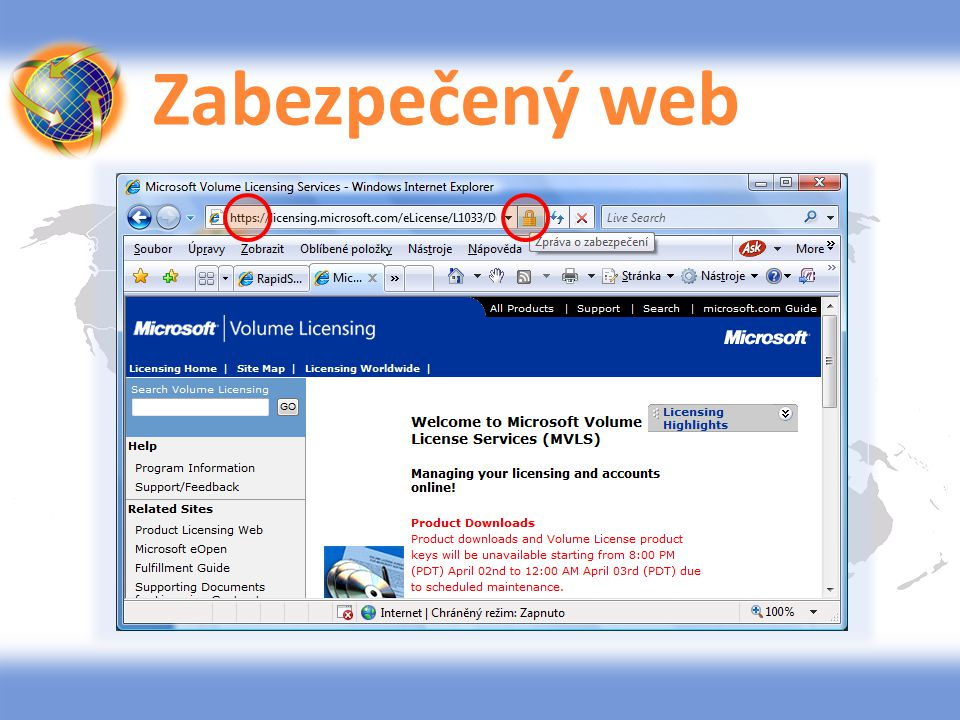 Zabezpečený web
