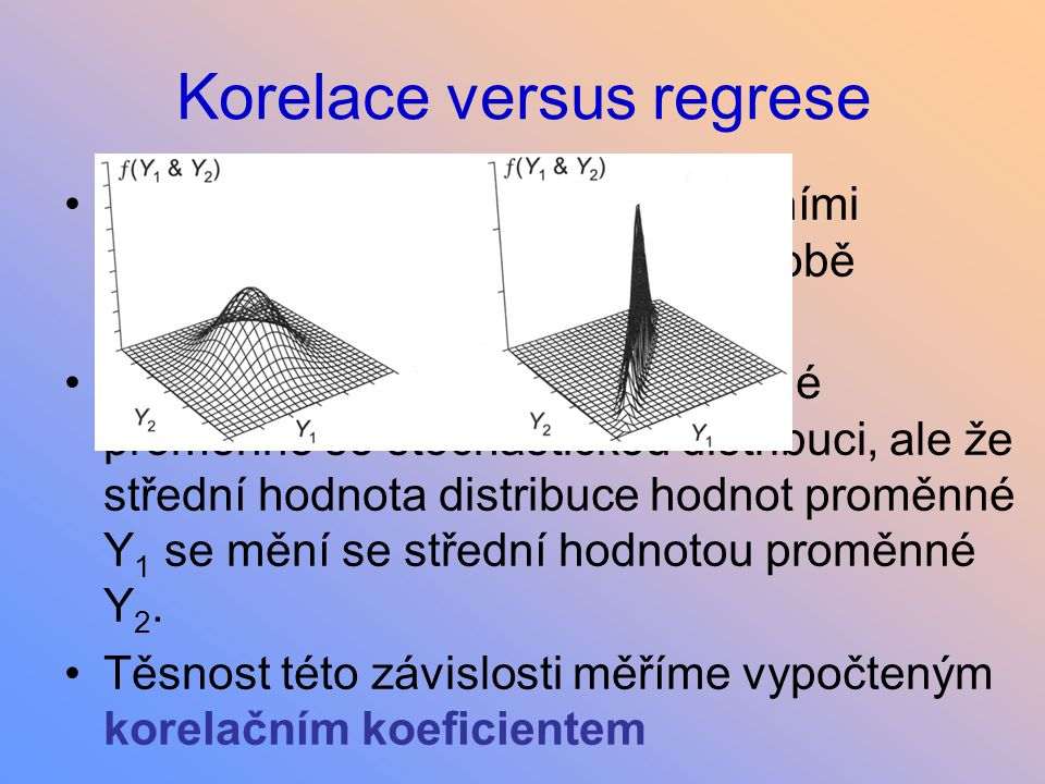 Korelace versus regrese