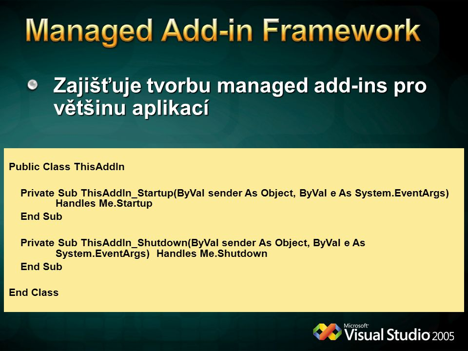 Managed Add-in Framework