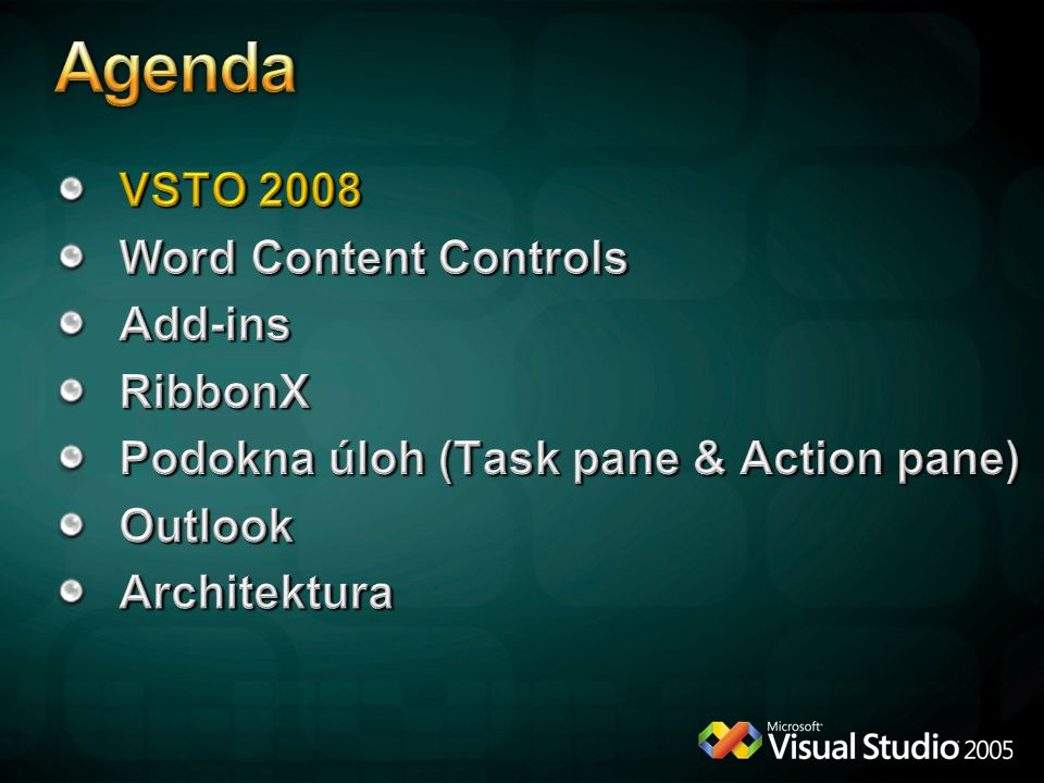 Agenda VSTO 2008 Word Content Controls Add-ins RibbonX