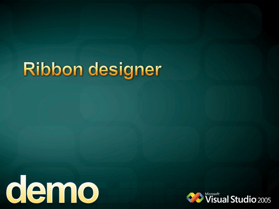 demo Ribbon designer 4/13/2017 9:38 AM