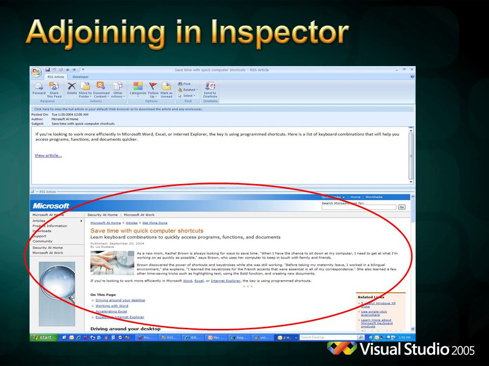 Adjoining in Inspector