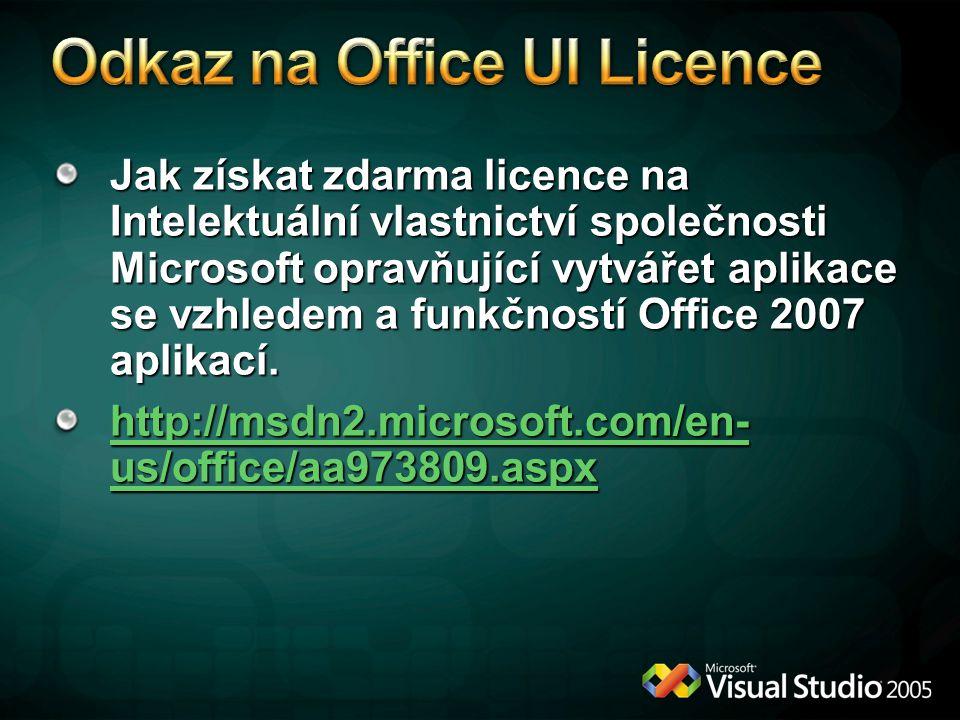 Odkaz na Office UI Licence