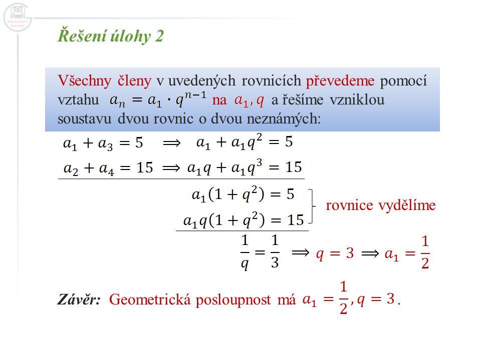 Řešení úlohy 2