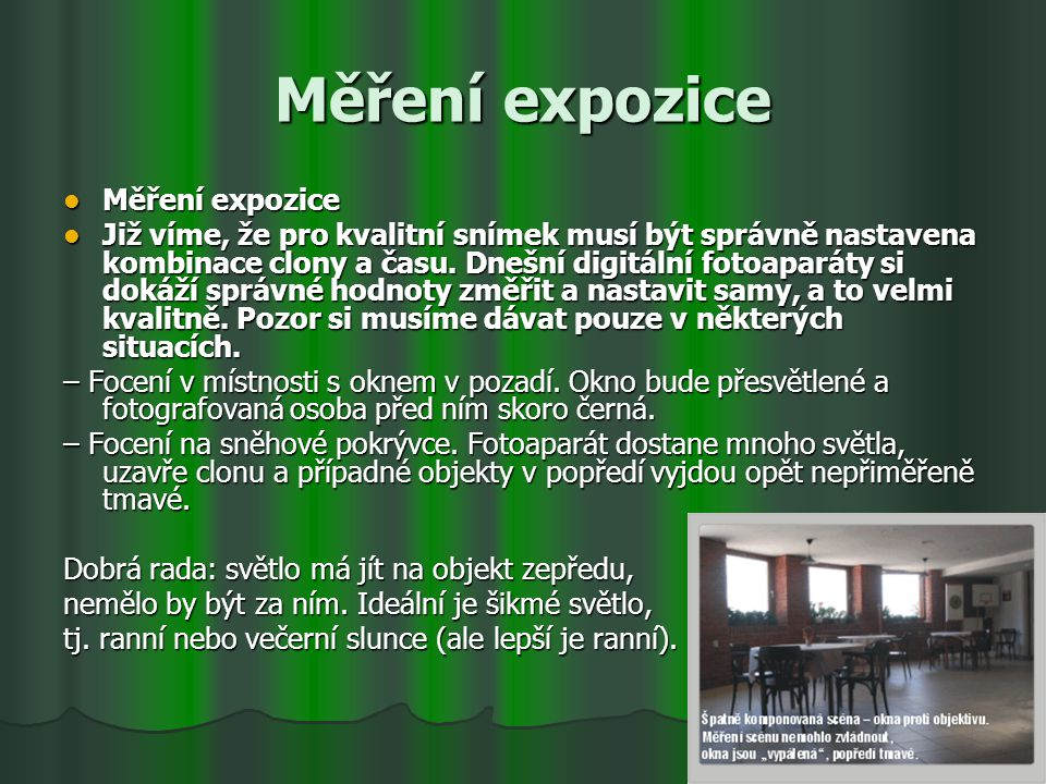 Měření expozice Měření expozice