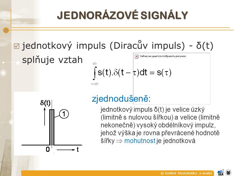 JEDNORÁZOVÉ SIGNÁLY jednotkový impuls (Diracův impuls) - δ(t)