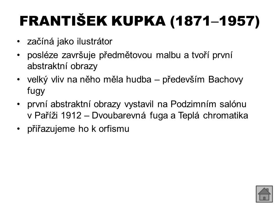 FRANTIŠEK KUPKA (1871–1957) začíná jako ilustrátor