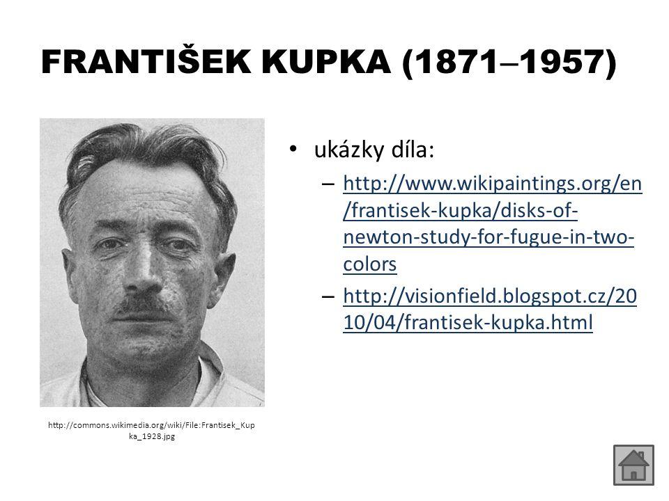 FRANTIŠEK KUPKA (1871–1957) ukázky díla:
