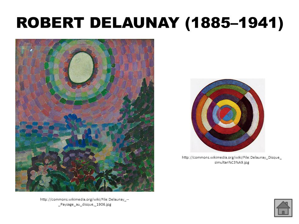ROBERT DELAUNAY (1885–1941) http://commons.wikimedia.org/wiki/File:Delaunay_Disque_simultan%C3%A9.jpg.