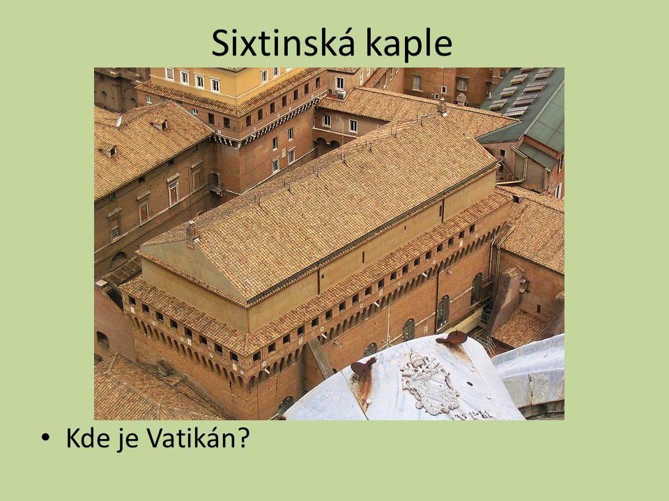 Sixtinská kaple Kde je Vatikán