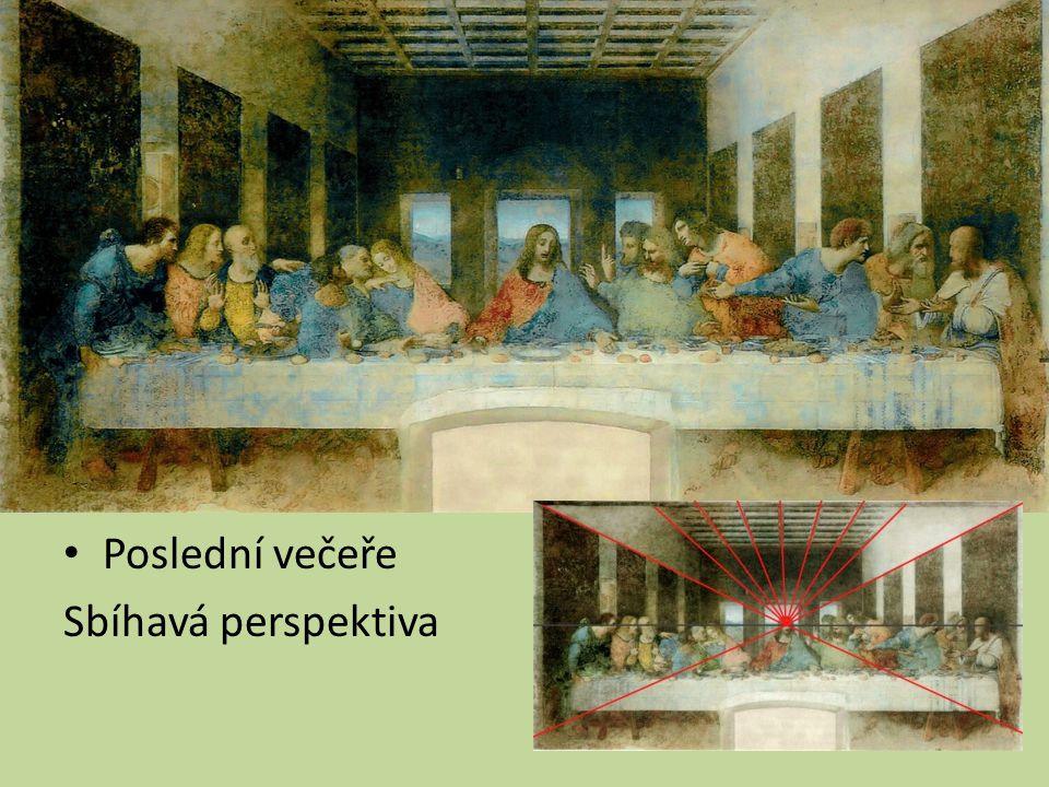 Poslední večeře Sbíhavá perspektiva
