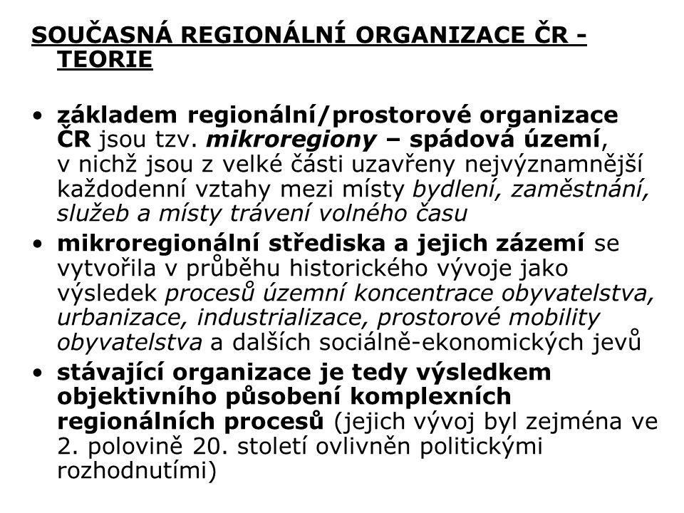 SOUČASNÁ REGIONÁLNÍ ORGANIZACE ČR - TEORIE