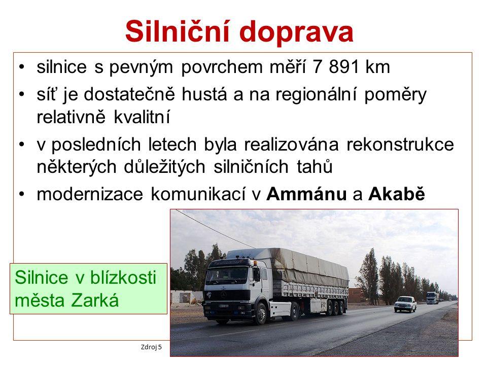 Silniční doprava silnice s pevným povrchem měří 7 891 km