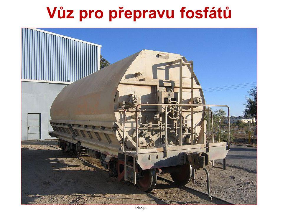 Vůz pro přepravu fosfátů