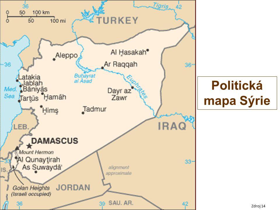 Politická mapa Sýrie Zdroj 14