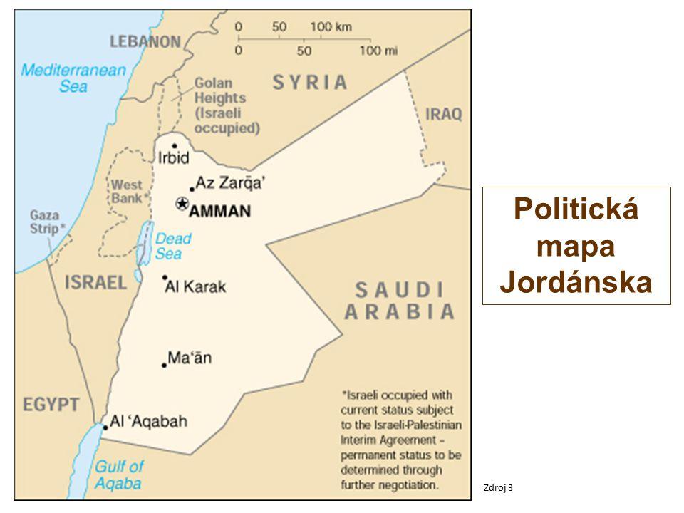 Politická mapa Jordánska