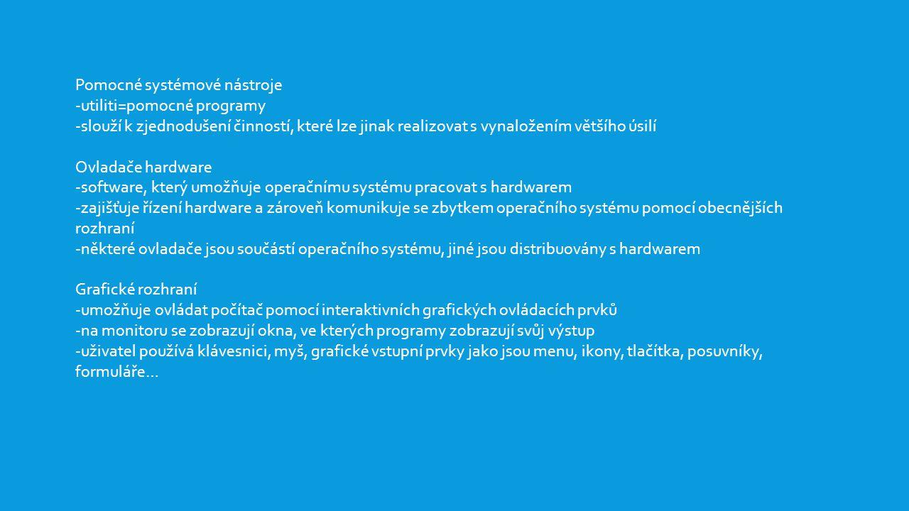 Pomocné systémové nástroje