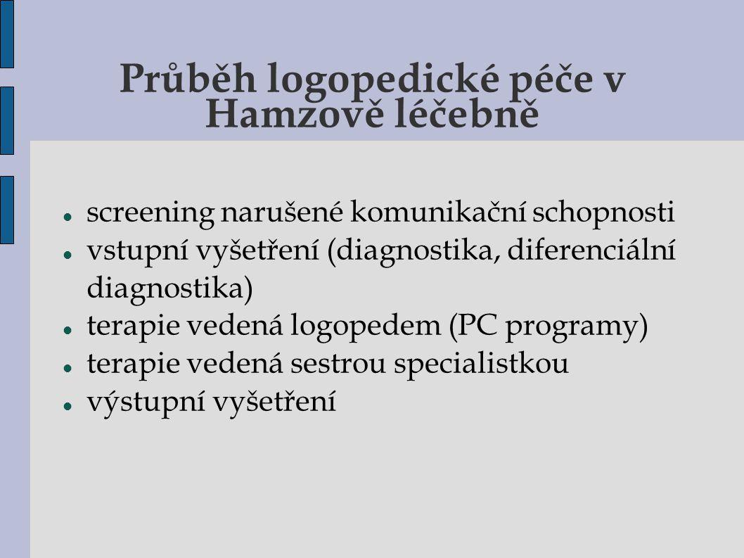 Průběh logopedické péče v Hamzově léčebně