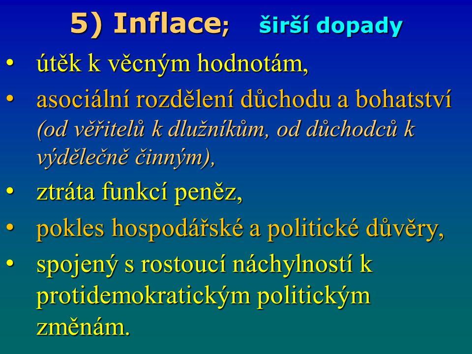 5) Inflace; širší dopady