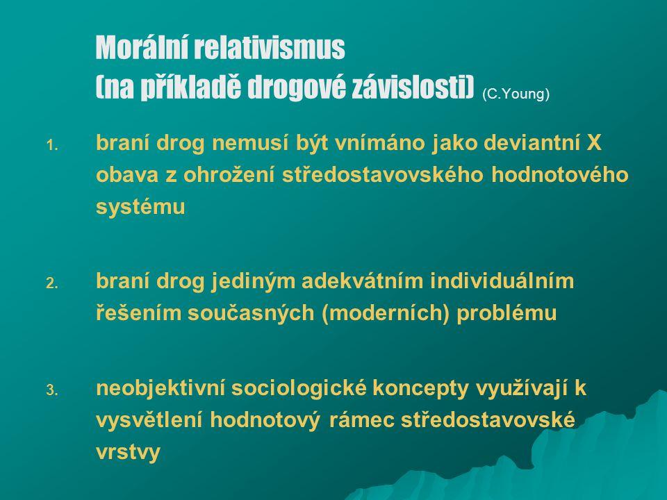 Morální relativismus (na příkladě drogové závislosti) (C.Young)