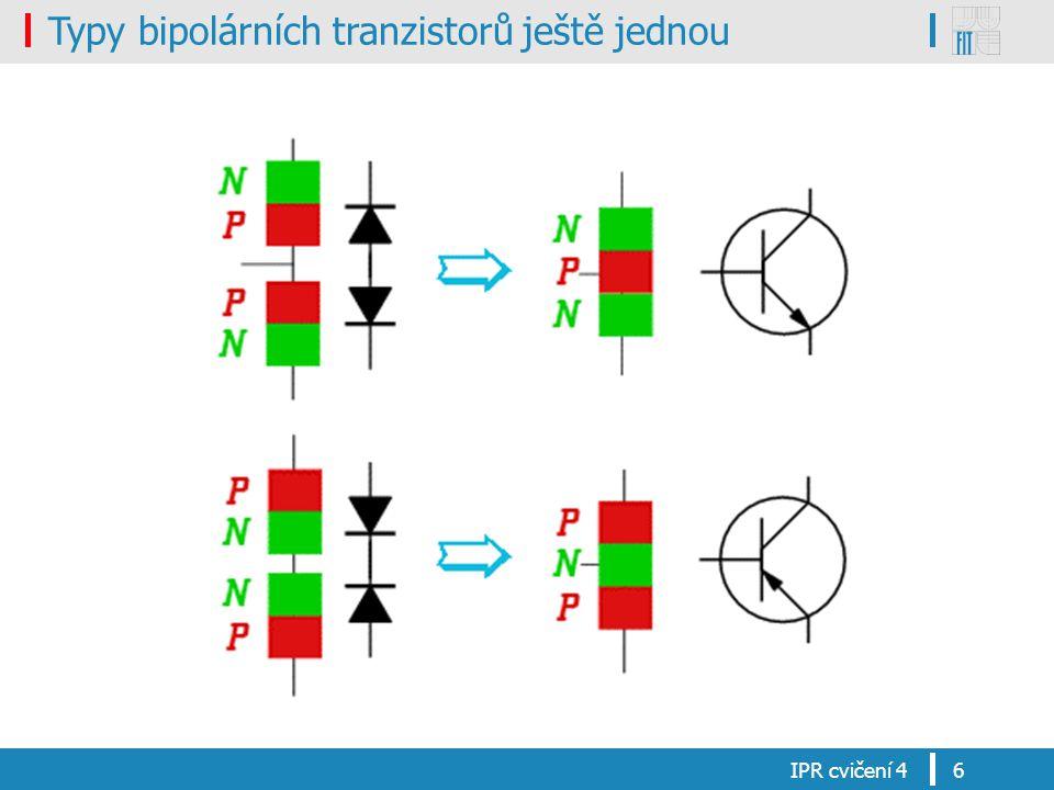 Typy bipolárních tranzistorů ještě jednou