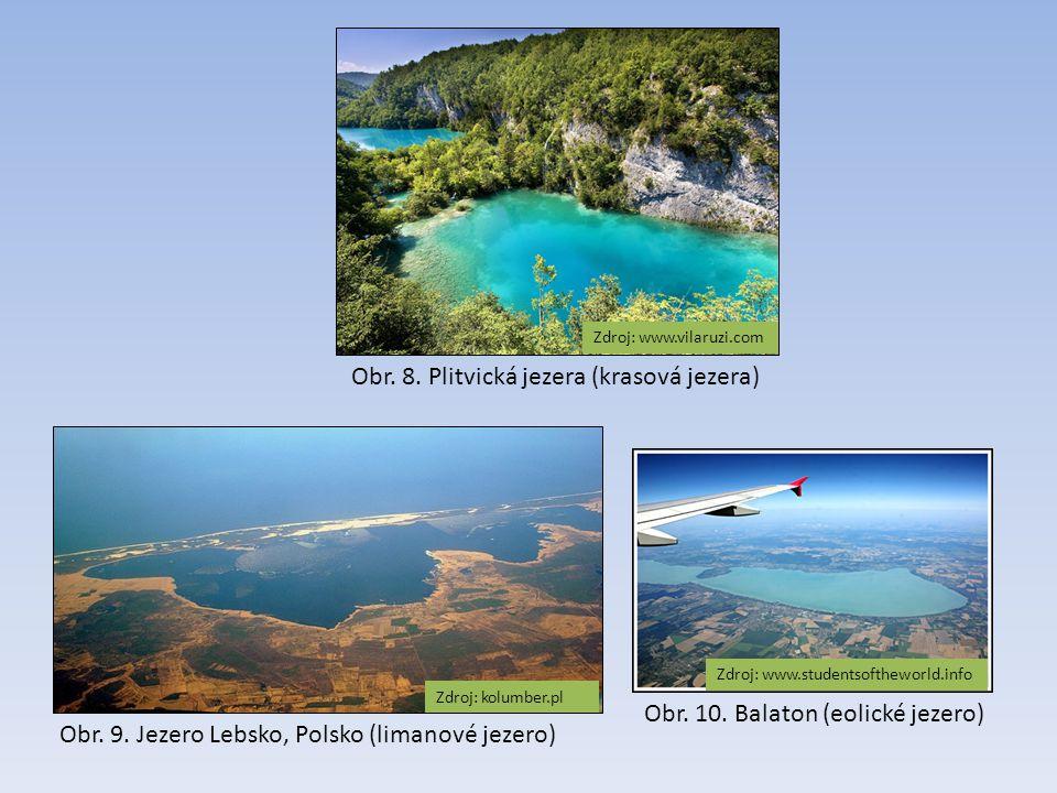 Obr. 8. Plitvická jezera (krasová jezera)