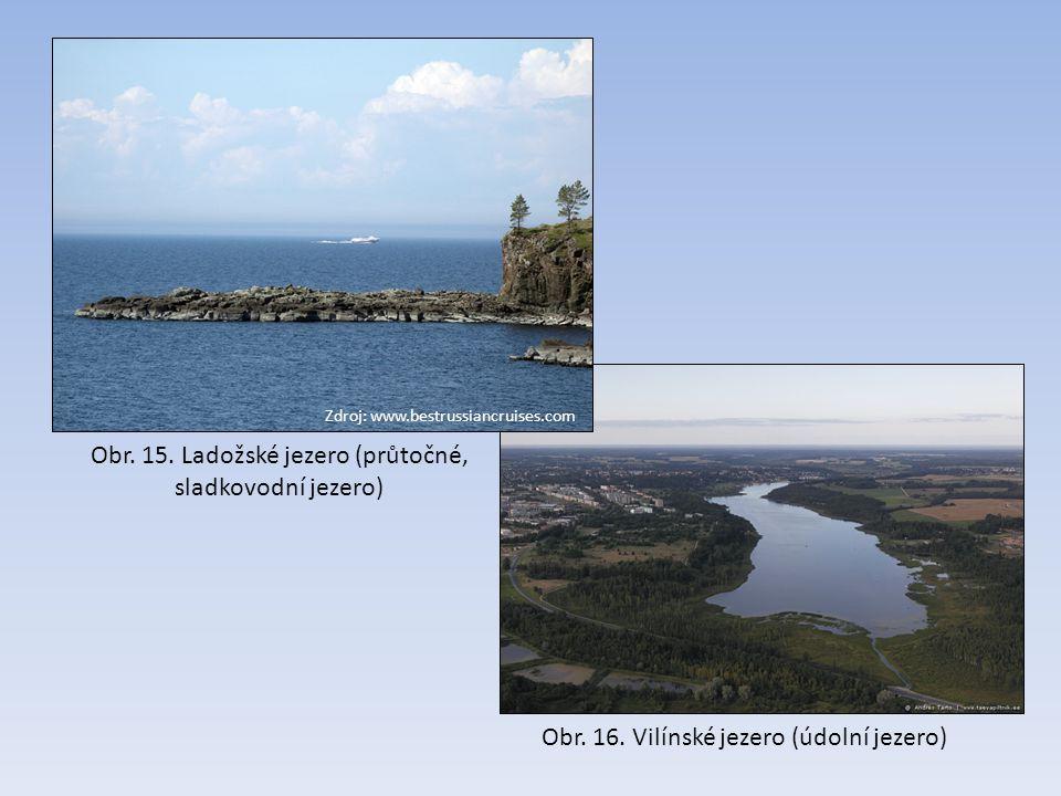 Obr. 15. Ladožské jezero (průtočné, sladkovodní jezero)