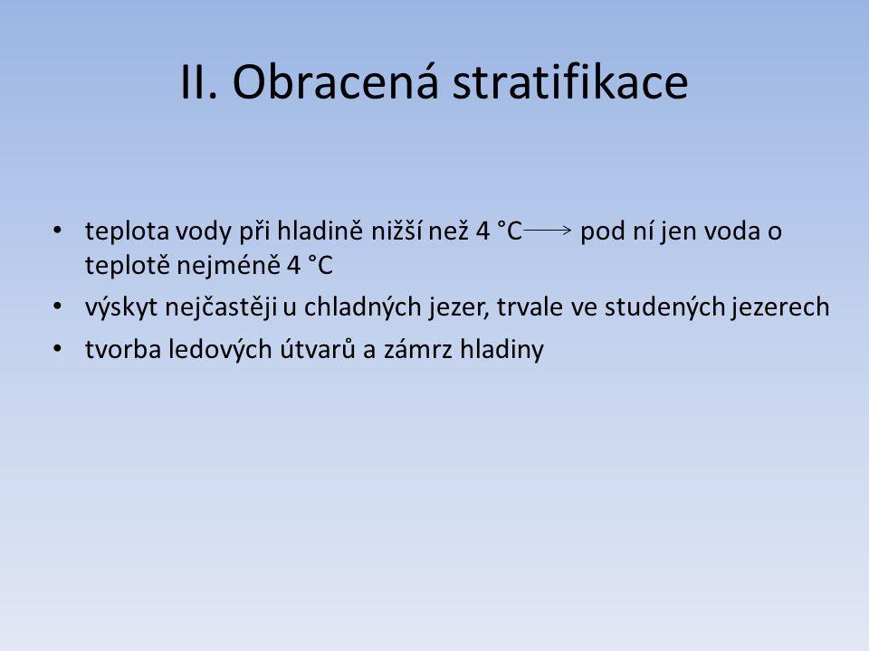 II. Obracená stratifikace