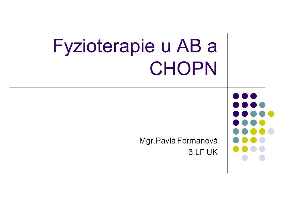 Fyzioterapie u AB a CHOPN