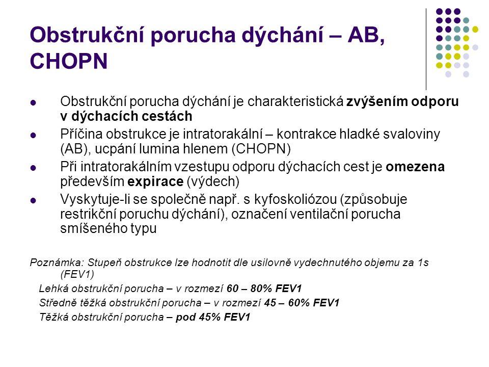 Obstrukční porucha dýchání – AB, CHOPN