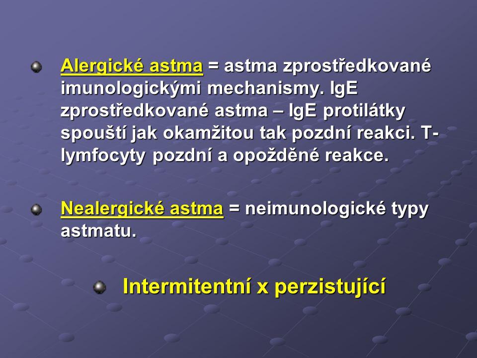 Intermitentní x perzistující