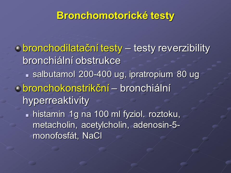 Bronchomotorické testy