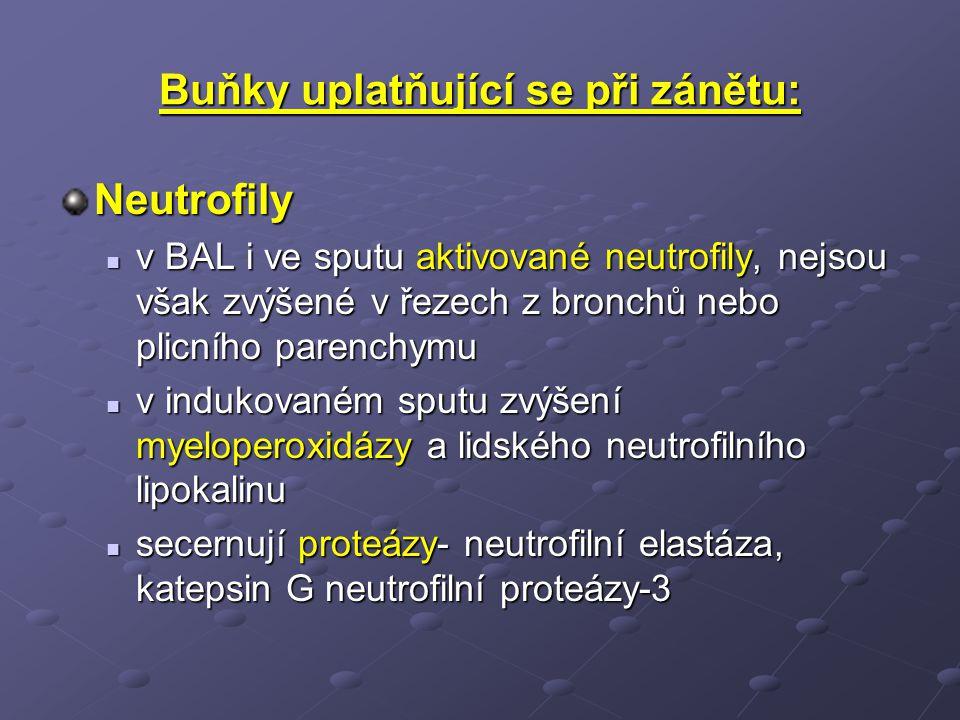Buňky uplatňující se při zánětu: