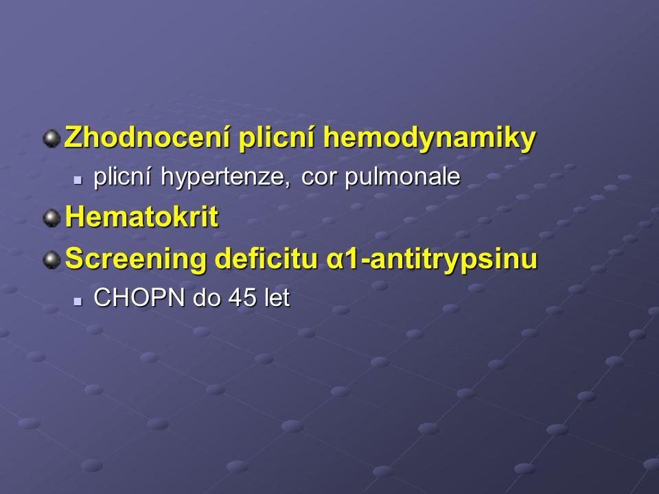 Zhodnocení plicní hemodynamiky Hematokrit