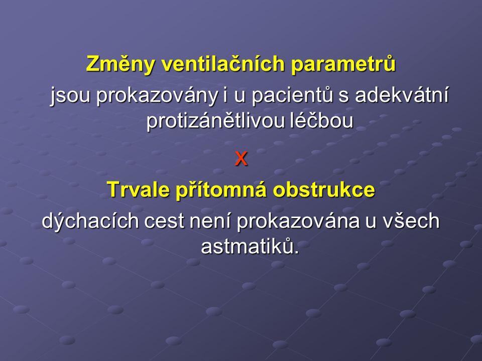 Změny ventilačních parametrů