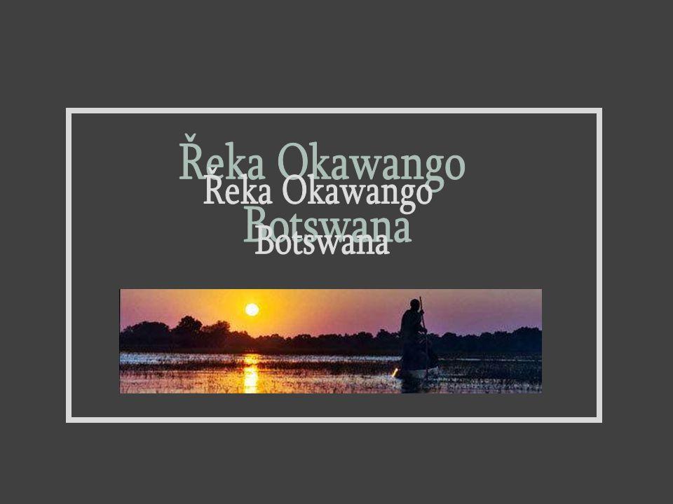 Řeka Okawango Botswana 1